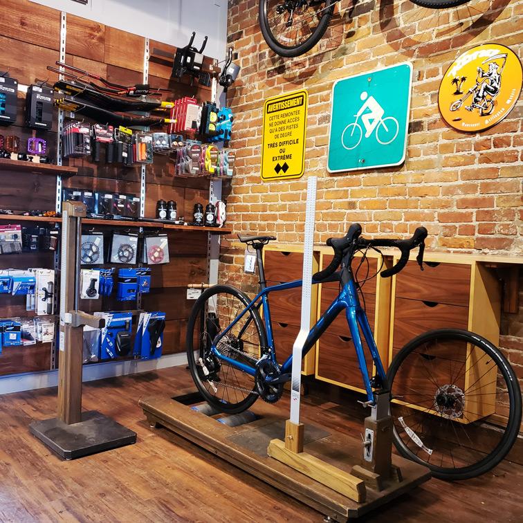 Bannière du service de positionnement sur vélo
